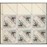 CROATIAN EXILE STAMPS - BLOCKS OF SIX STAMPS SEMI-POSTAL FLOWERS & BIRDS (7)