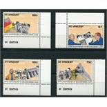 ST VINCENT SPECIMEN STAMPS 4 SETS MNH