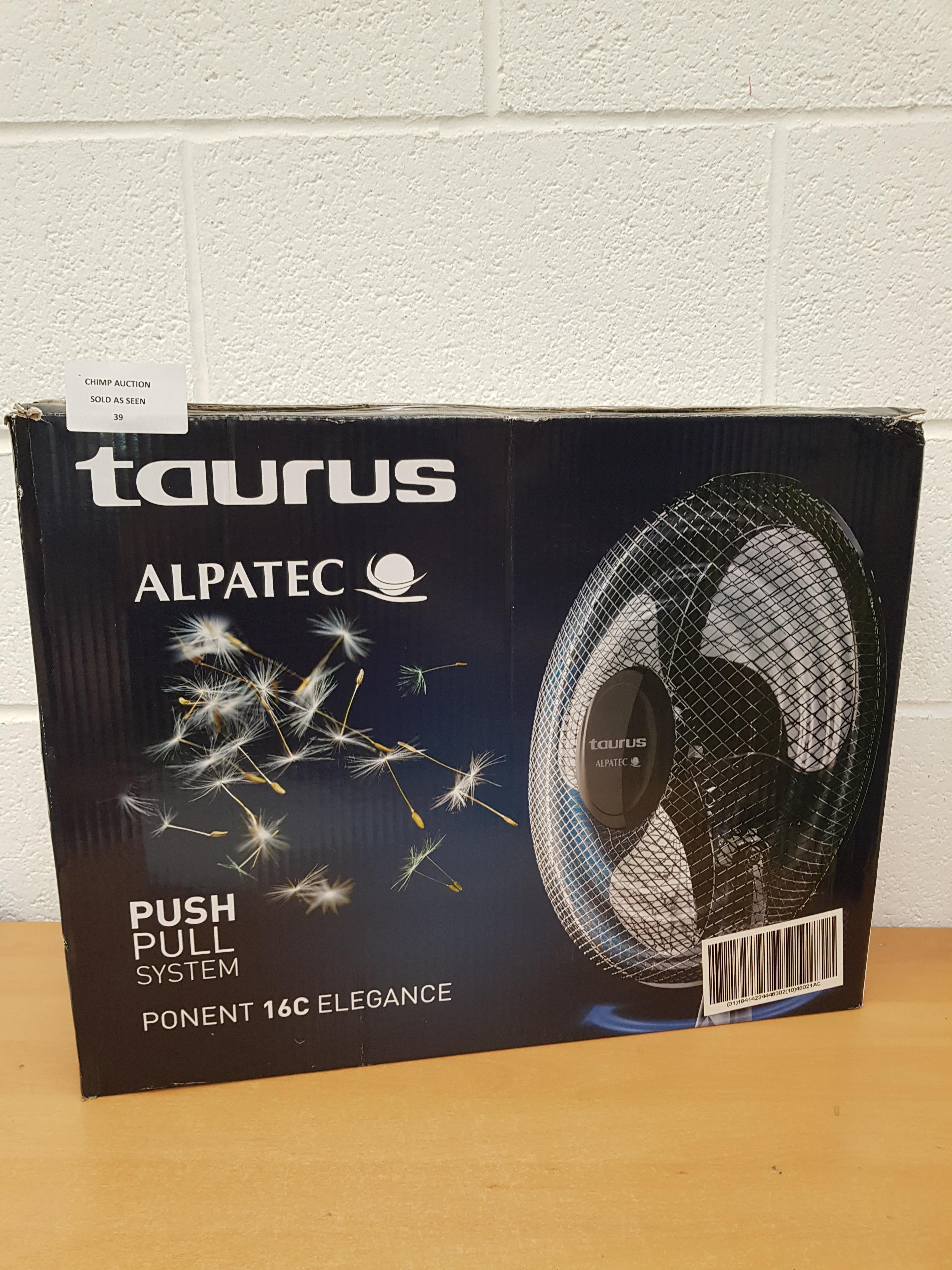 Lot 39 - Taurus Alpatec 16C elegance Fan
