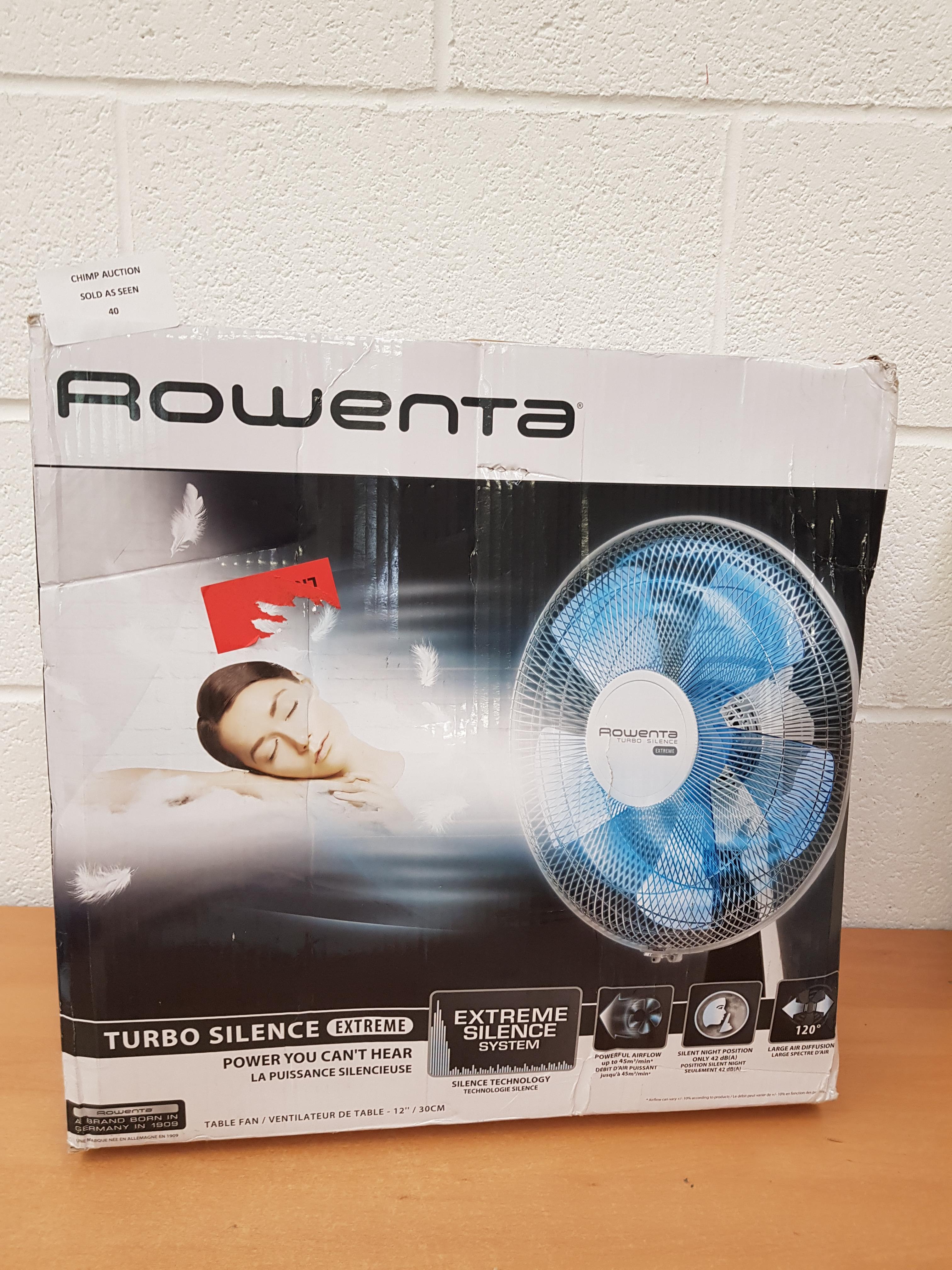 Lot 40 - Rowenta VU2630 Turbo Silence Extreme table fan