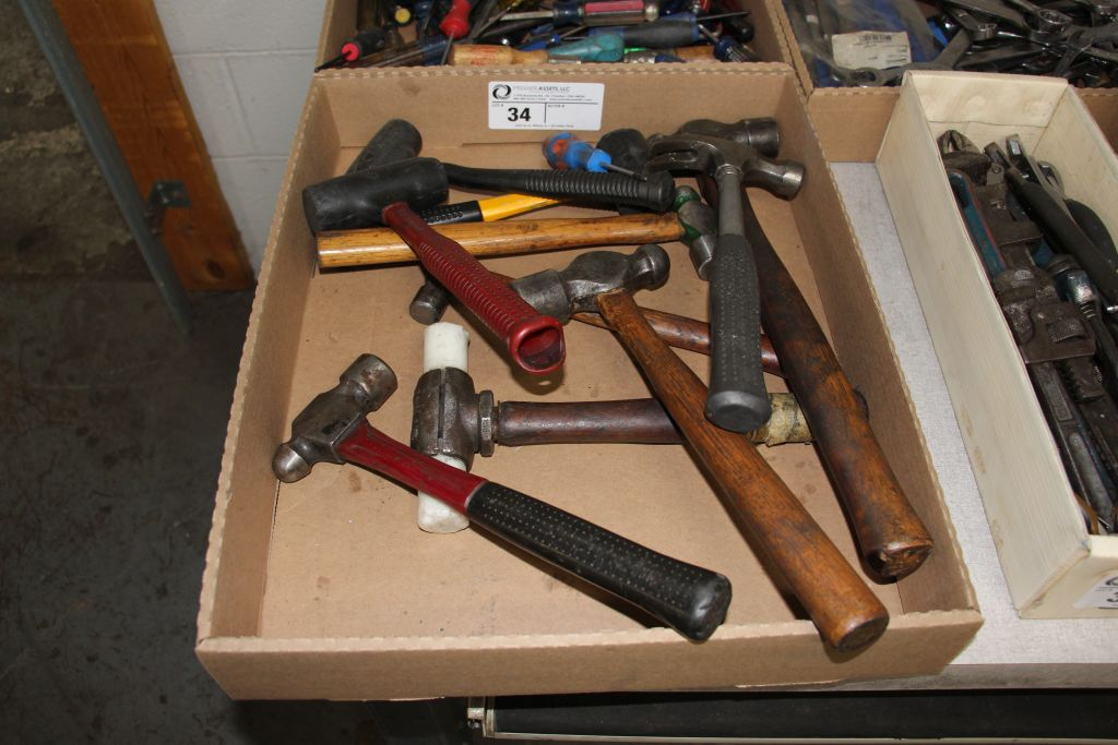 assortment of hammers, rubber mallets & misc.