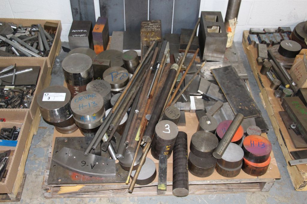 assortment of round stock, stainless steel & steel