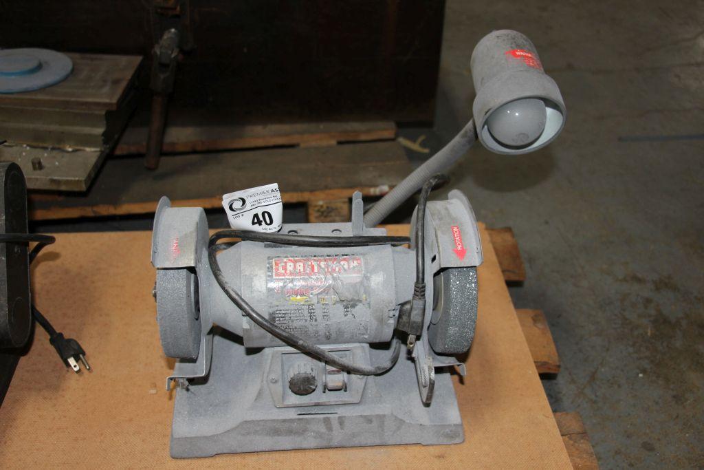"Craftsman 6"" dual bench grinder"