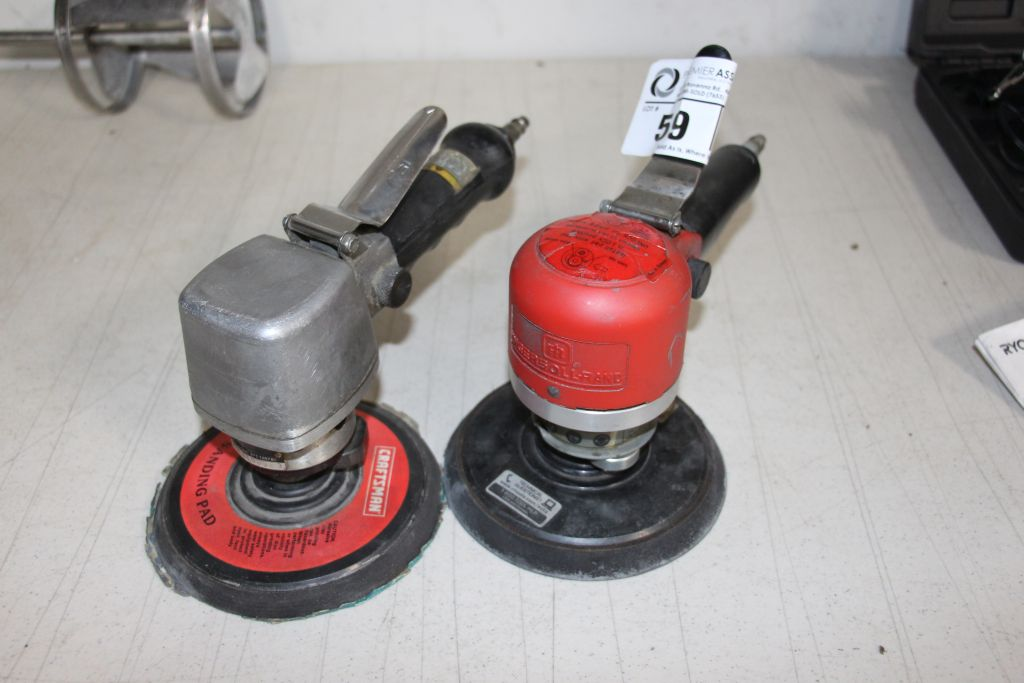 Lot 59 - 1 each Ingersoll Rand, model 311A, Craftsman model 875-189780, pneumatic Orbitol Sanders