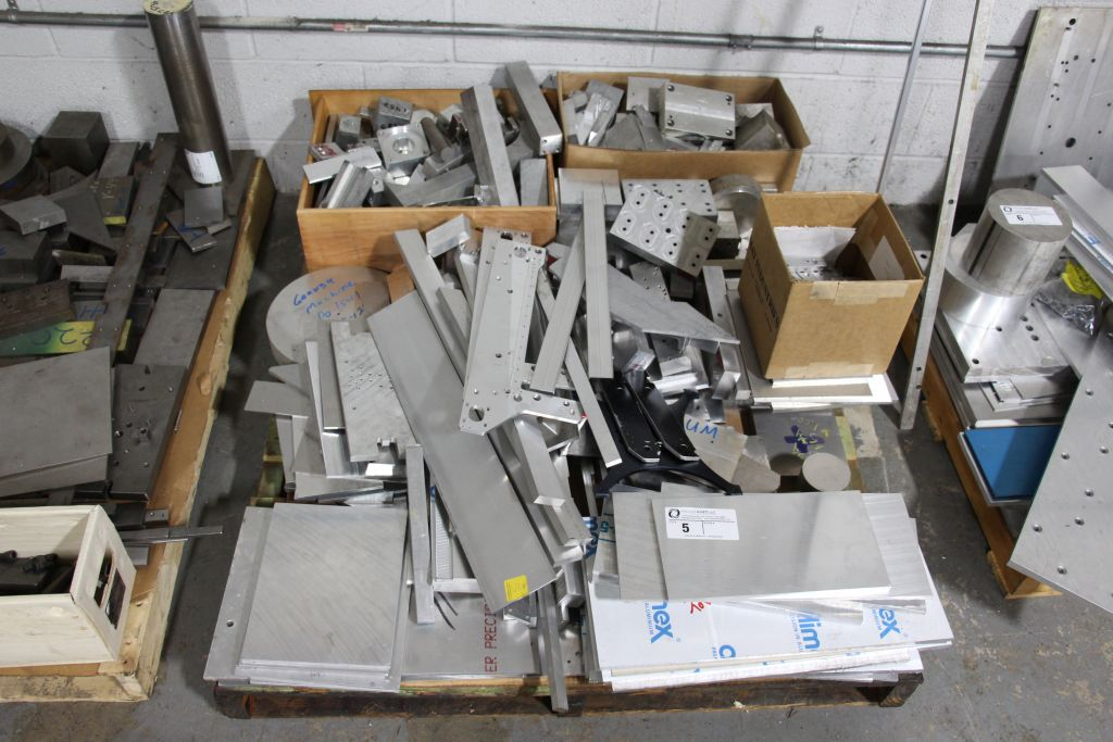 assortment of scrap metal