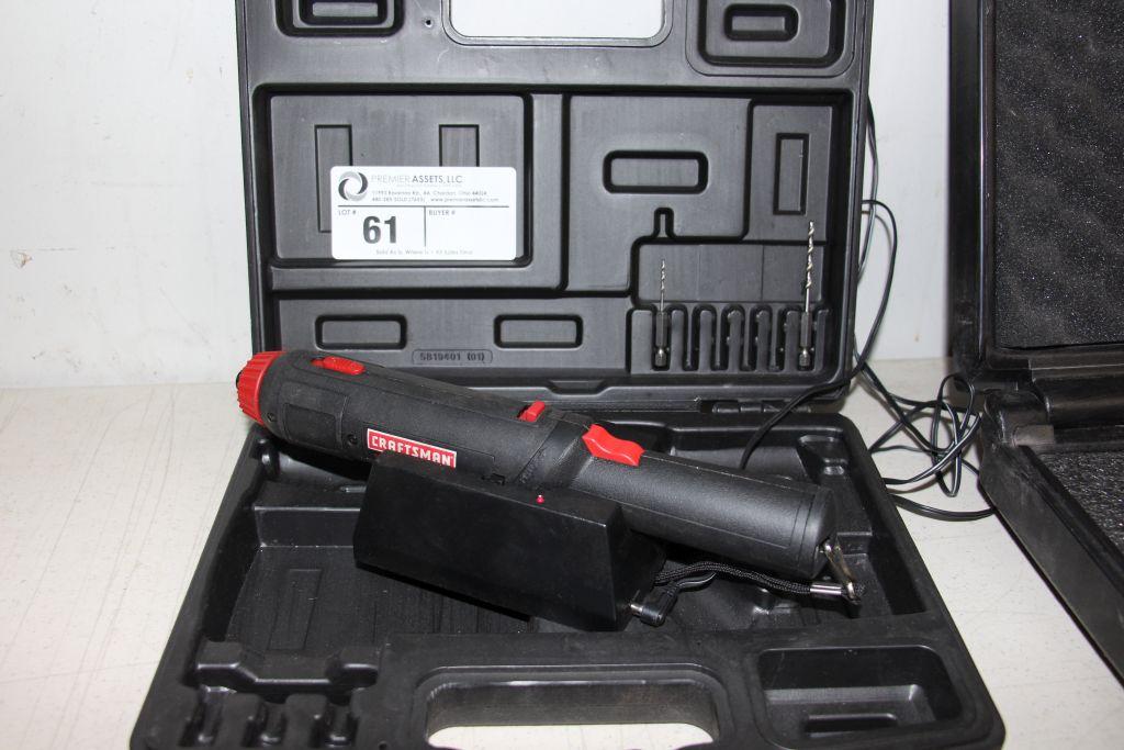 Lot 61 - Craftsman 3.6v Cordless Screwdriver, model 315-111690, charger & case