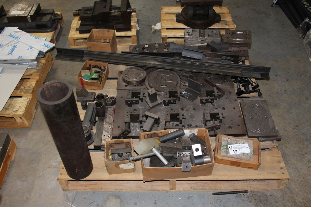 assortment of steel fixtures, angle iron & misc.