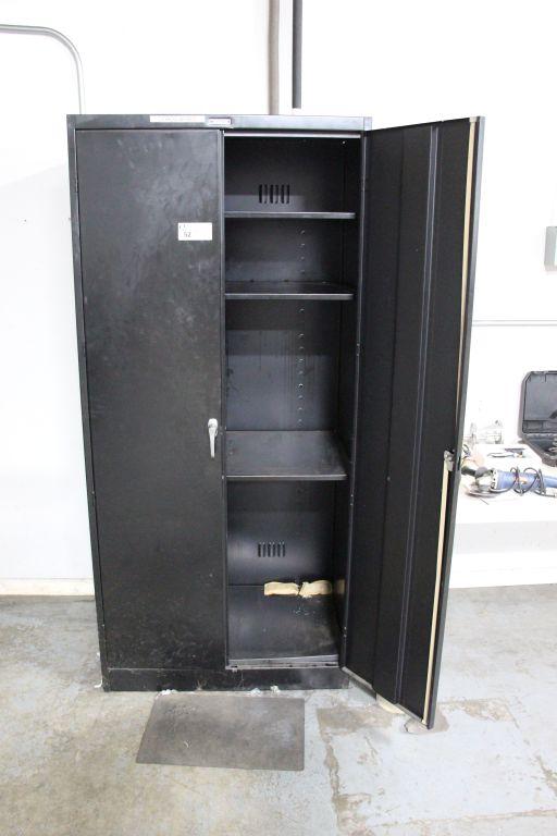 """Lot 52 - Metal cabinet, 3'w x 2'd x 78""""tall"""