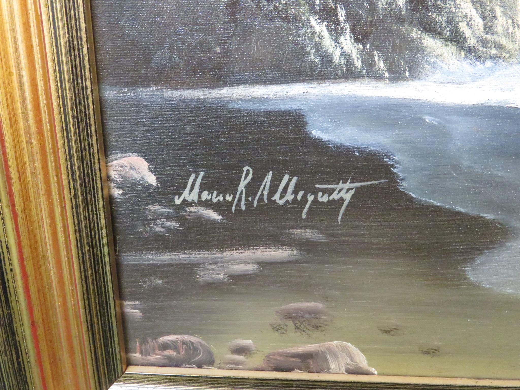 Lot 23 - Mario Rosario Allegretti, (Italian School, 20th century), Costa di Sorrento, oil on canvas, signed