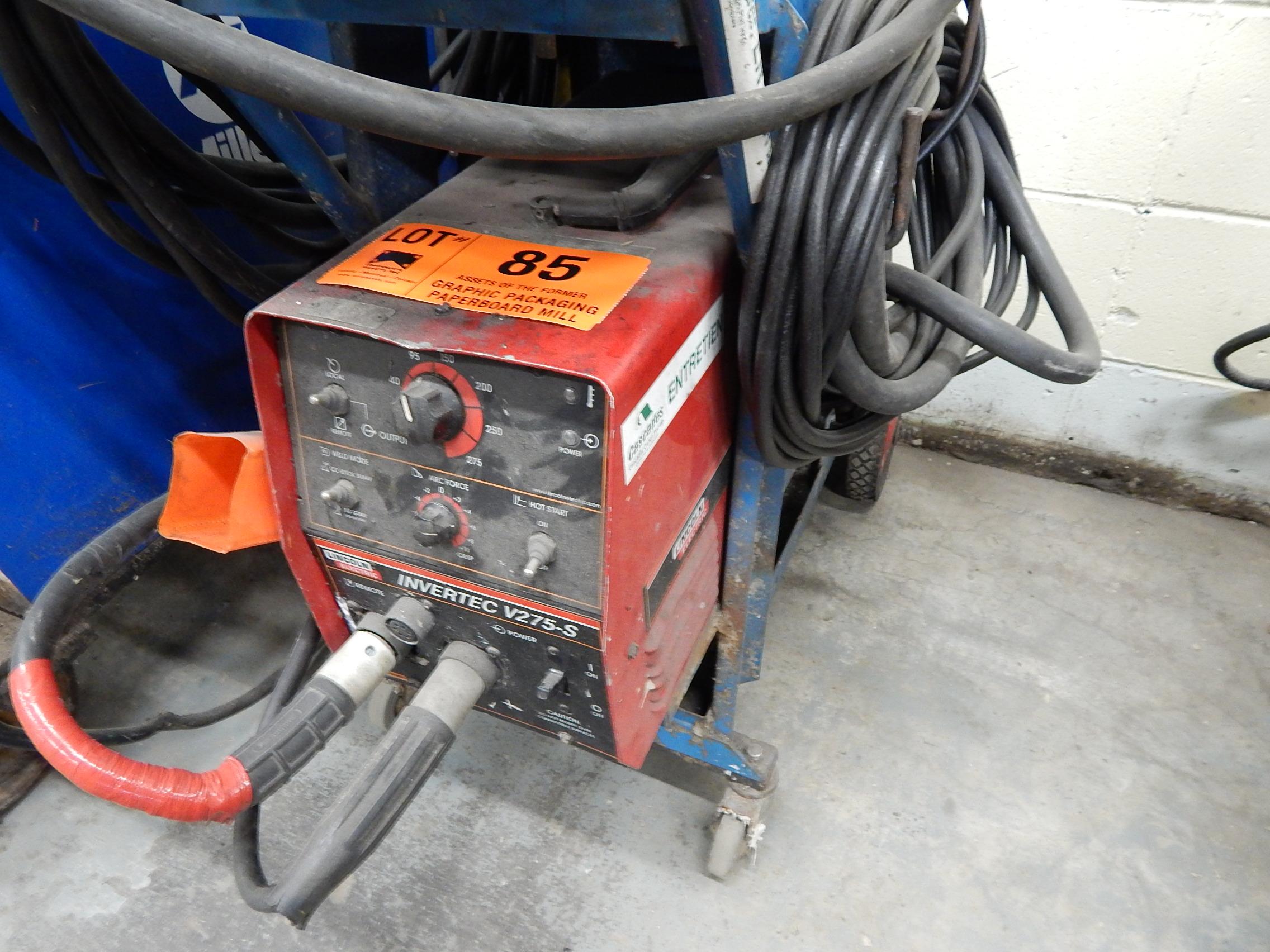 Lincoln Electric Invertec V 275 S Portable Mig Welder Maintenance Parts Lot 85