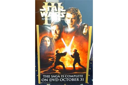 Star Wars Episode Iii Revenge Of The Sith Cinema Promotional Standee Poster Display Two Piece