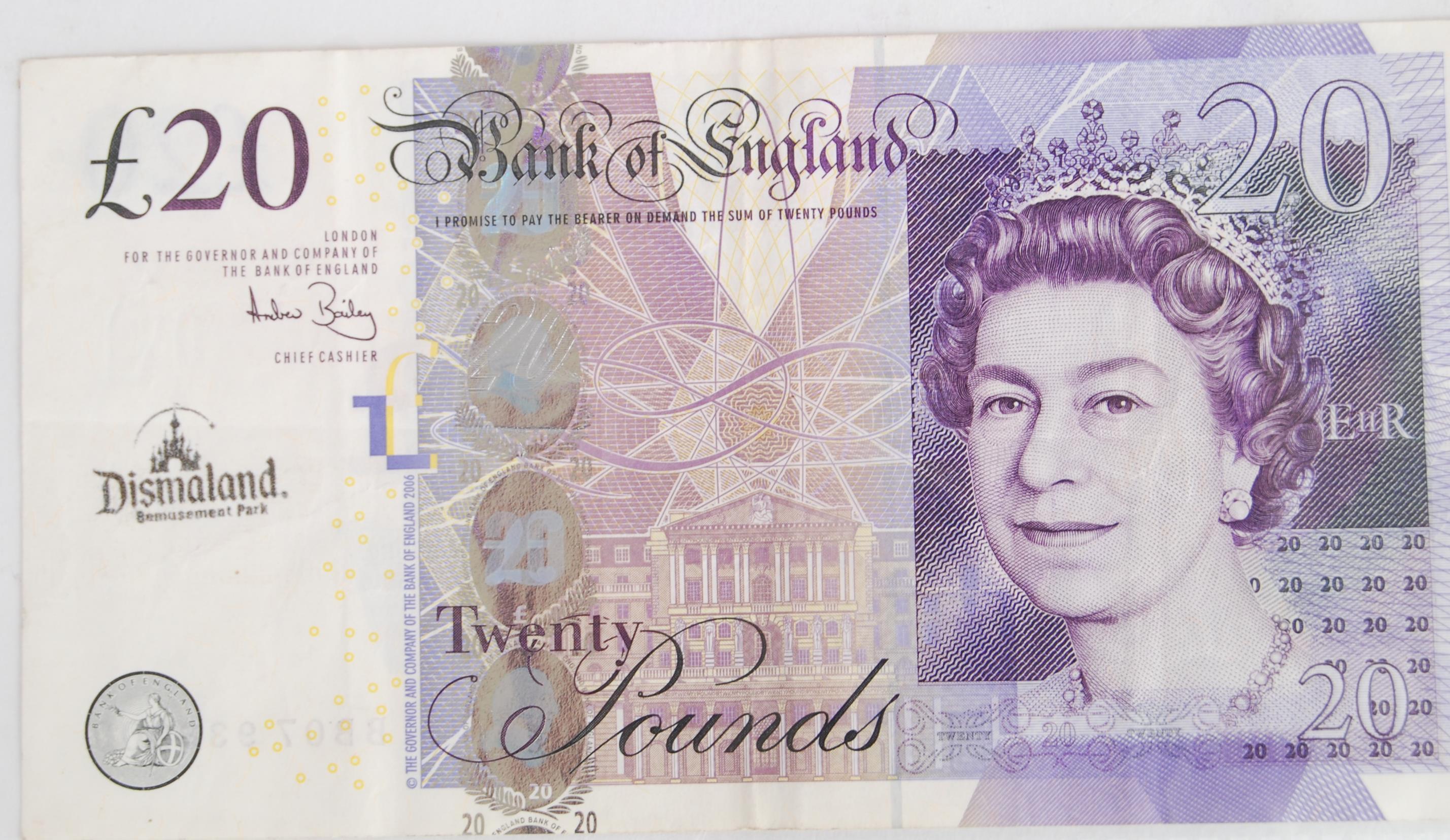 Dismaland 163 20 Note An Original Twenty Pound Note Stamped