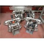 Warren Rupp Sandpiper pumps mod. no. SSB1-A ser. no. 617496 type TY-3-SS, USDA compliant metallic