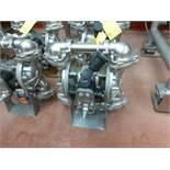 Warren Rupp Sandpiper pumps mod. no. SSB1-A ser. no. 617493 type TY-3-SS, USDA compliant metallic