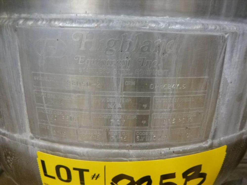 Lot 825B - Highland test kettle, ser. no. 88050-2 (2013), s/s, jacketed (2nd Floor, Test Kitchen)