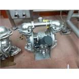 Warren Rupp Sandpiper pumps mod. no. SSB1-A ser. no. 617502 type TY-3-SS, USDA compliant metallic