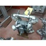 Warren Rupp Sandpiper pumps mod. no. SSB1-A ser. no. 206502 type S-2-SS, USDA compliant metallic