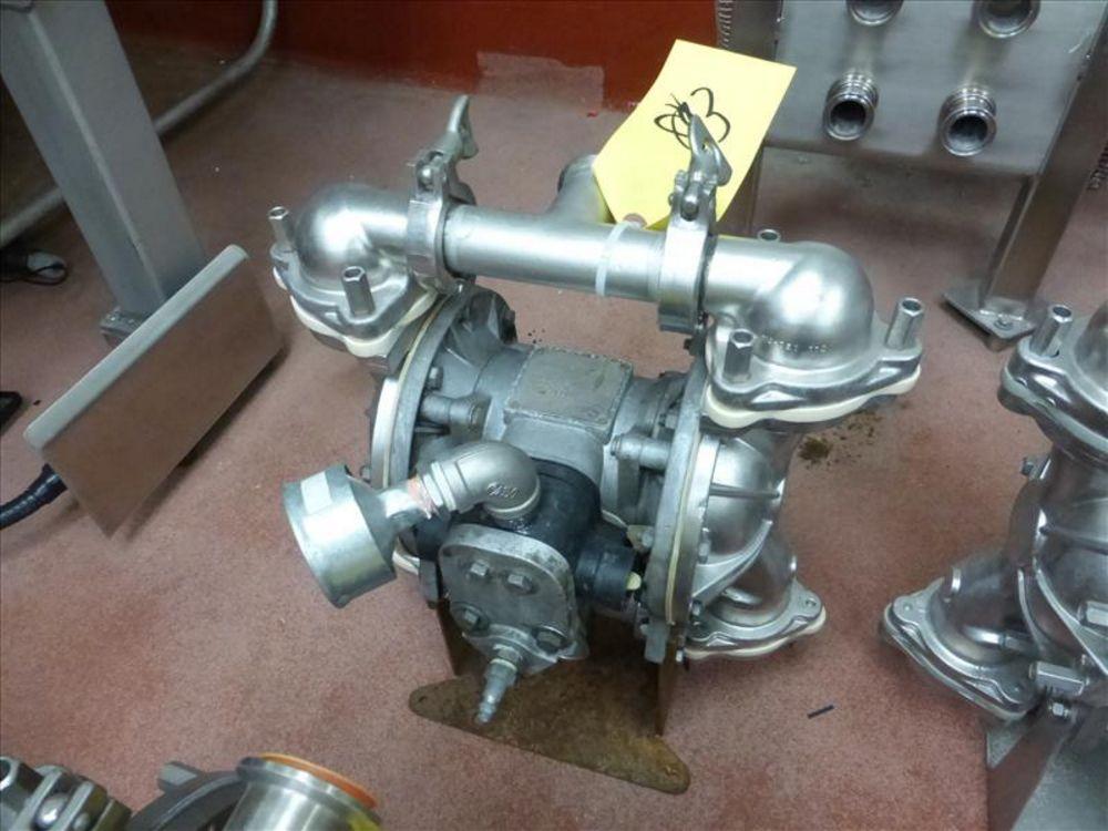 Lot 812 - Warren Rupp Sandpiper pumps mod. no. SSB1-A ser. no. 206502 type S-2-SS, USDA compliant metallic