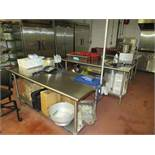 (5) Stainless tables with fixtures & utensils [Upstairs ACC Pilot]