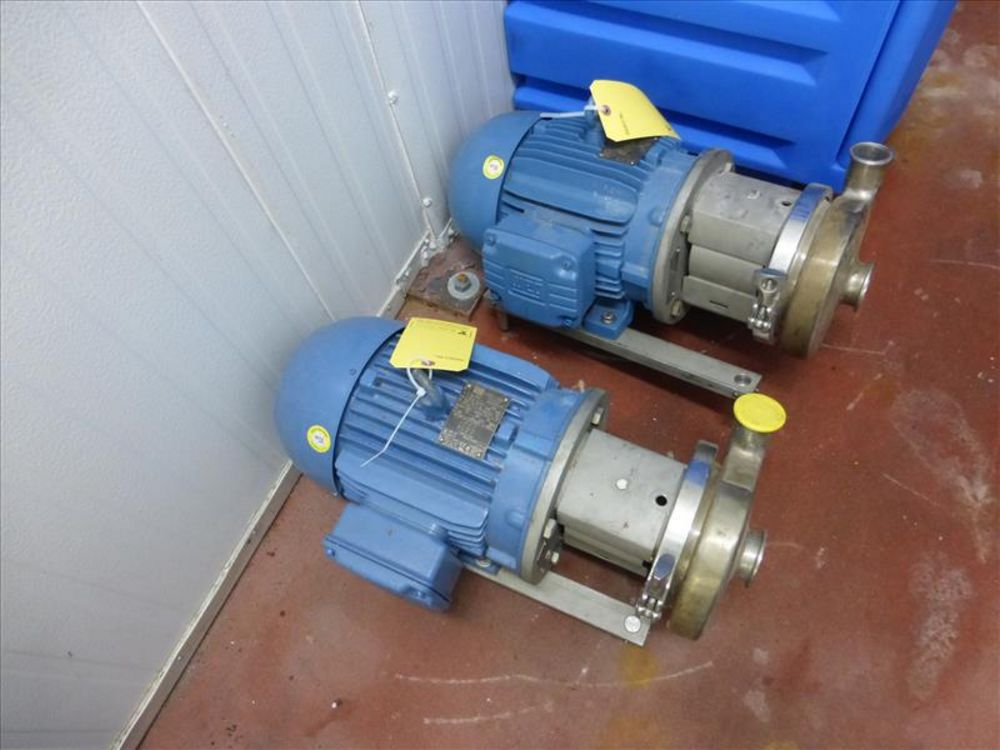 Lot 820 - Ampco centrifugal pump mod. no. C216MD127-S ser. no. CC38502-1-3 stainless, 6 in. dia impeller, 7.