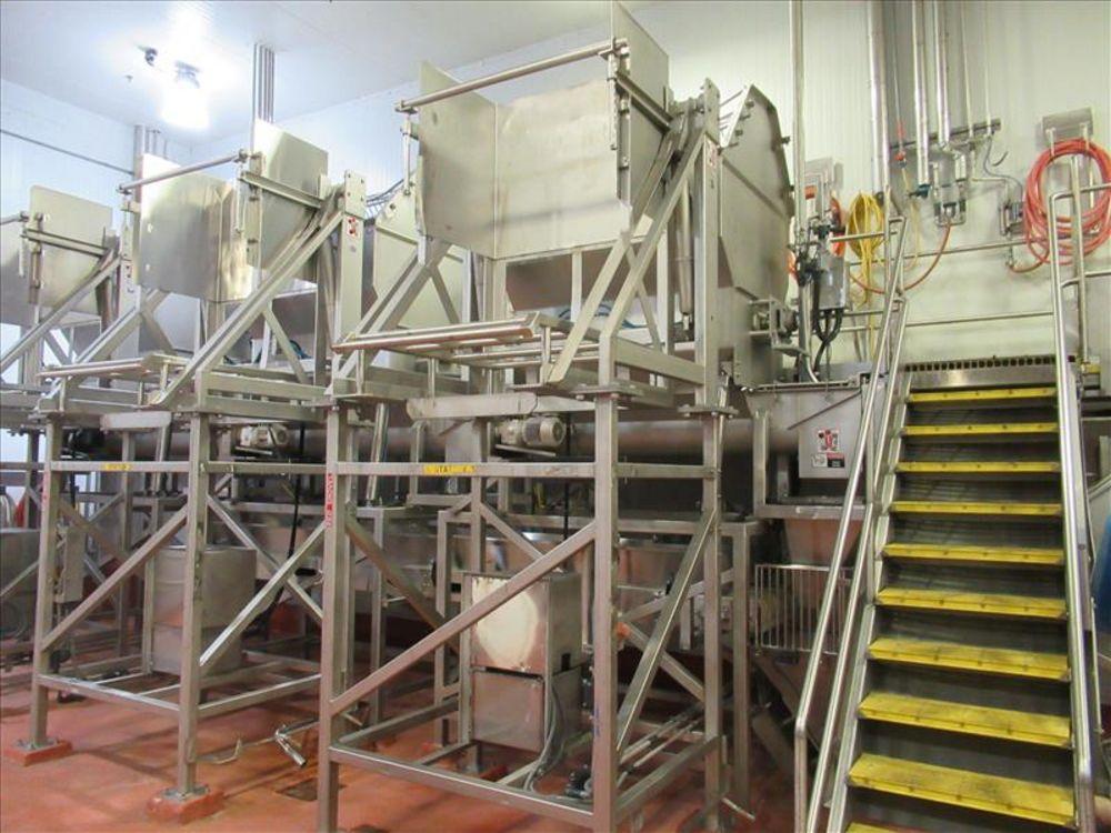 Lot 830 - MTC 3000 lb bin dumper #3 mod. no. LEC ser. no. 4961 hydraulic low lift tote dumper, single stage,