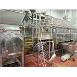 Extructor inspection platform approx 36 in. W x 6 ft. h, stainless frame and safety rails with 6