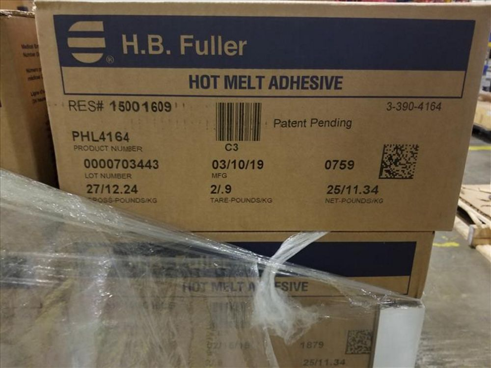 Lot 1485 - Lot (37) Case H. B. Fuller Hot Melt Adhesive