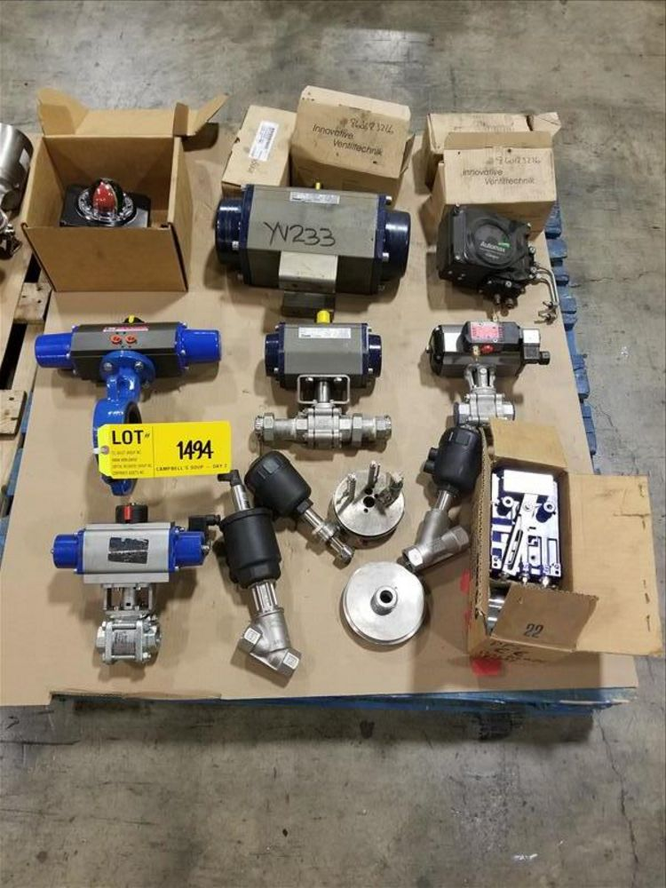 Lot 1494 - Lot Stainless Pneumatic actuator and part (2) Pallet