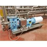 Waukesha positive displacement pump mod. no. 33 ser. no. 46192 stainless, 1-1/2 in. x 1-1/2 in.,