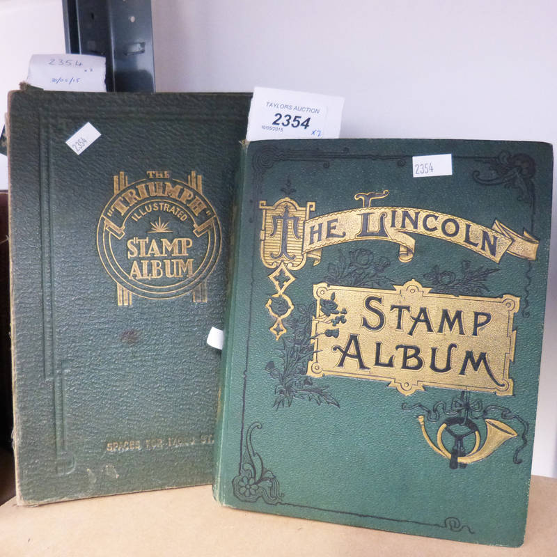2 GREEN STAMP ALBUMS, THE LINCOLN STAMP ALBUM AND THE