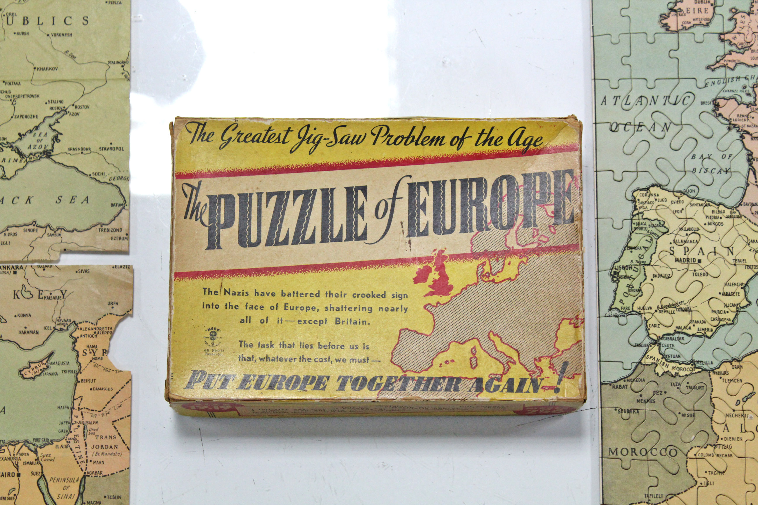"Lot 187 - A Mere 256 piece jig-saw puzzle ""The Puzzle of Europe"", boxed."