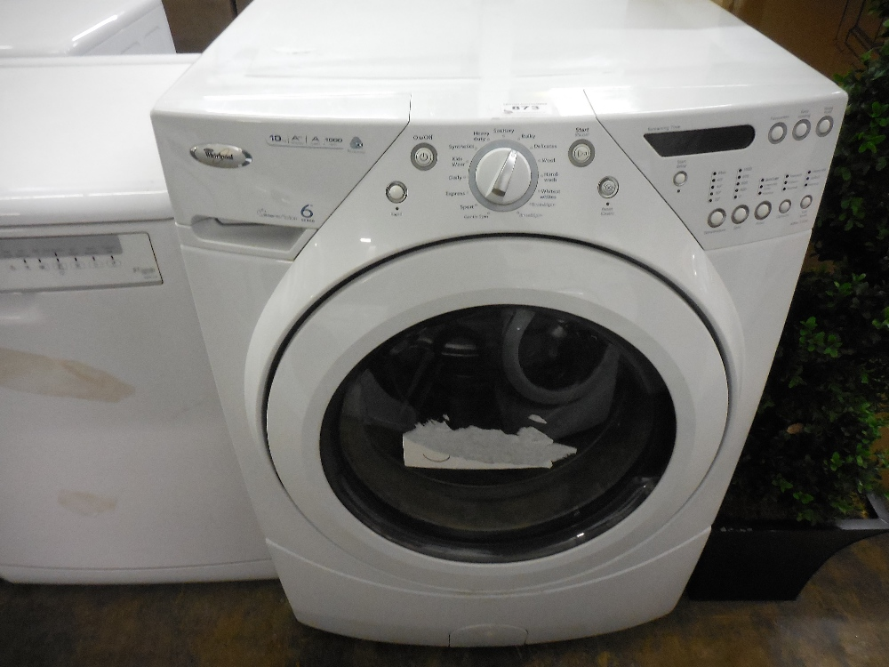 1 whirlpool awm1020 10kg 1000spin heavy duty washing machine rrp 1099. Black Bedroom Furniture Sets. Home Design Ideas