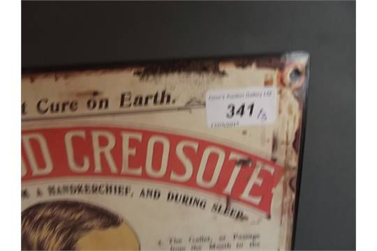 Three Metal Advertising Signs Karswood Creosote Zip Water And Royal Wiltshire Bacon 16