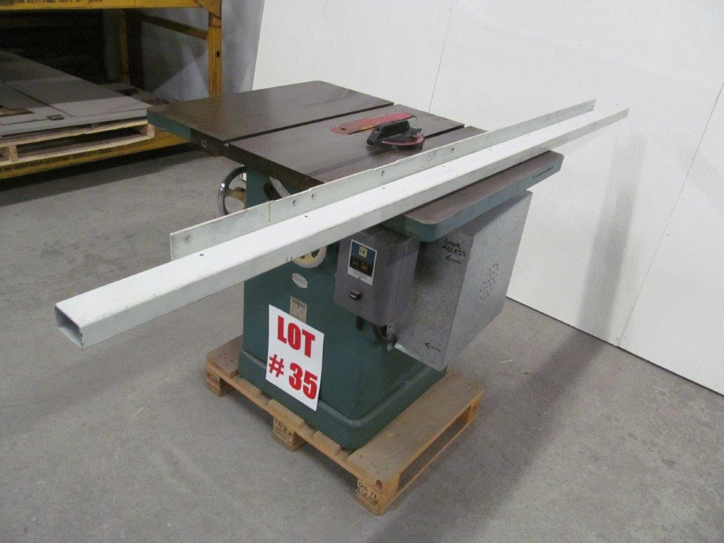 Tilting Arbor Table Saw Model General 350 S N 35b295 Electrics 208v 3ph 60c 2hp Hawke