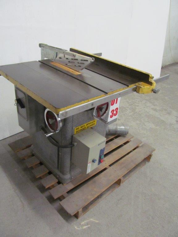 Tilting Arbor Table Saw Model General S N 35 1553 Electrics 208v 3ph 60c Hawkesbury Ont