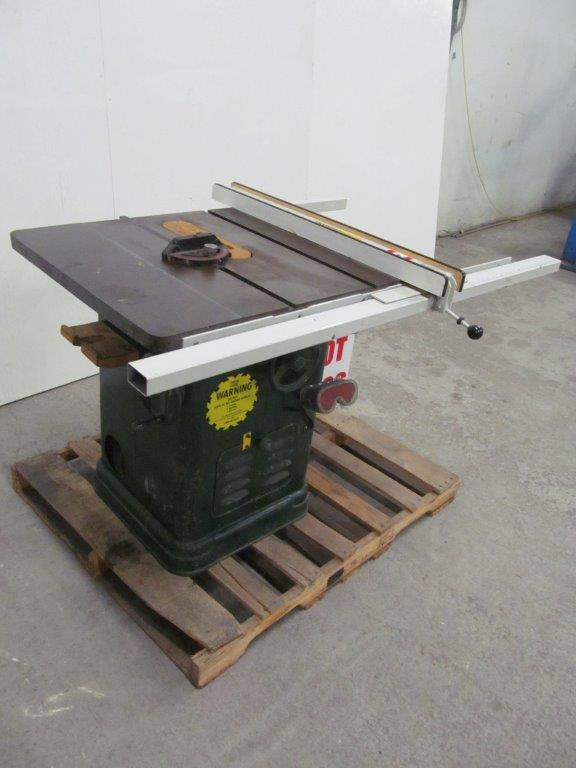 Tilting Arbor Table Saw Model Delta Electrics 208v 3ph 60c Hawkesbury Ont
