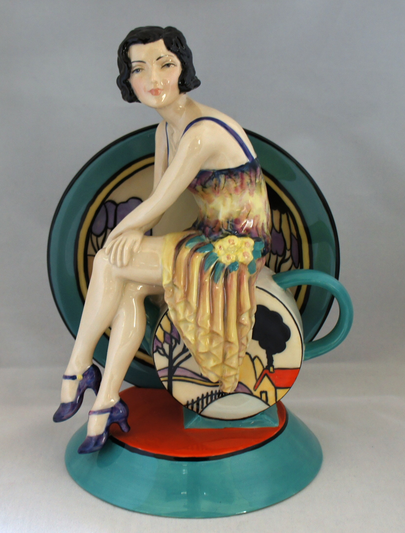 A Kevin Francis Art Deco style Clarice Cliff figurine ...
