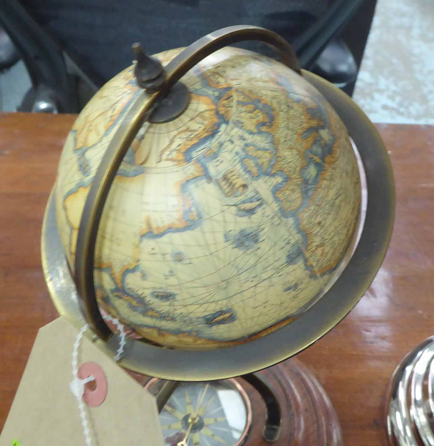 Lot 88 - GLOBES, a set of three, various sizes, largest 45cm H.