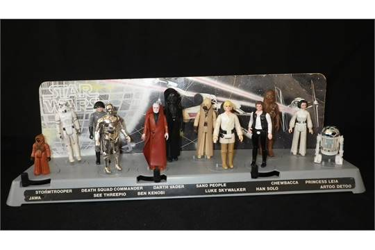 STAR WARS AN ACTION DISPLAY STAND With Twelve Action Figures And Cool Star Wars Action Figure Display Stand