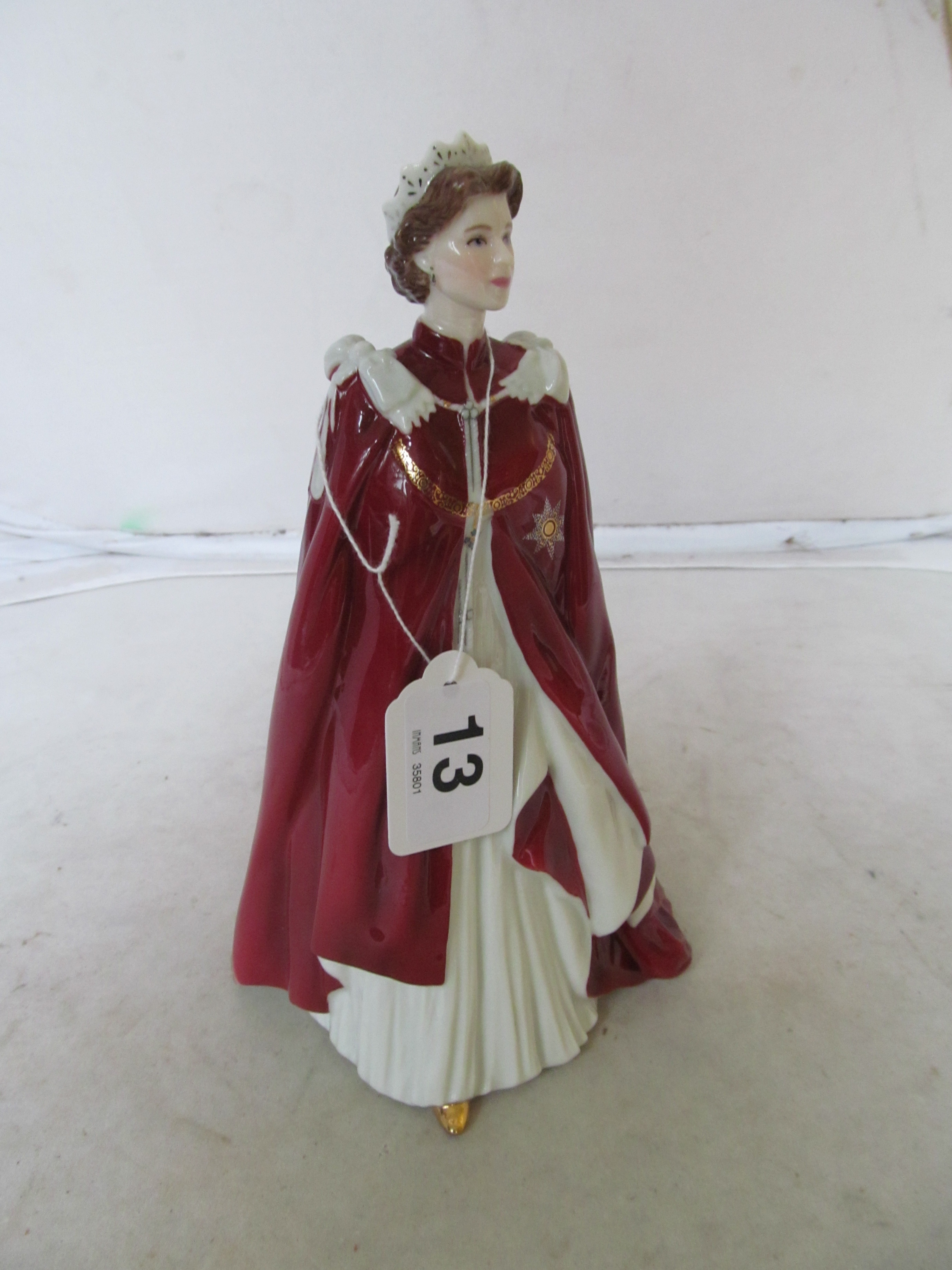 Lot 13 - A Royal Worcester 80th Birthday model of Queen