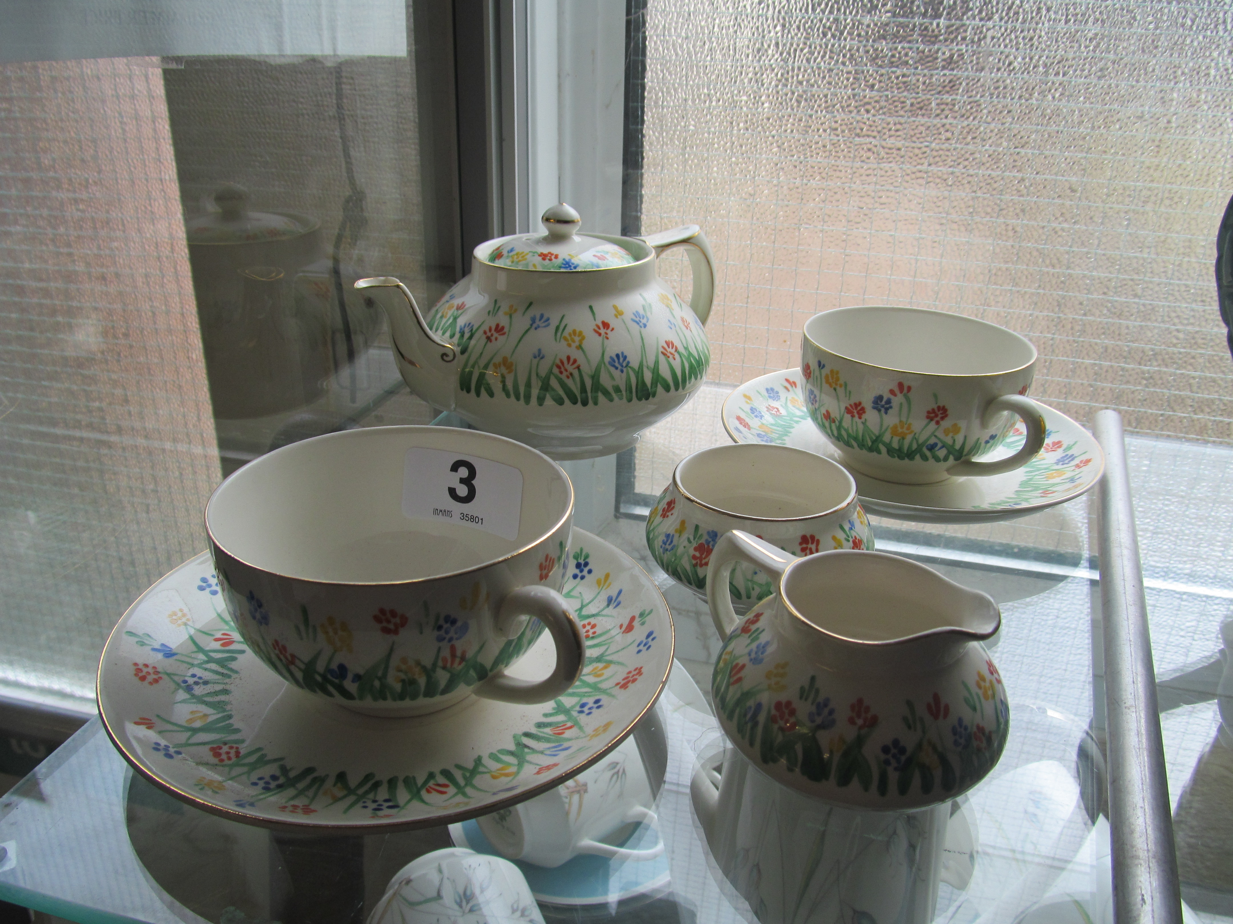 Lot 3 - A Crown Ducal batchelor's teaset