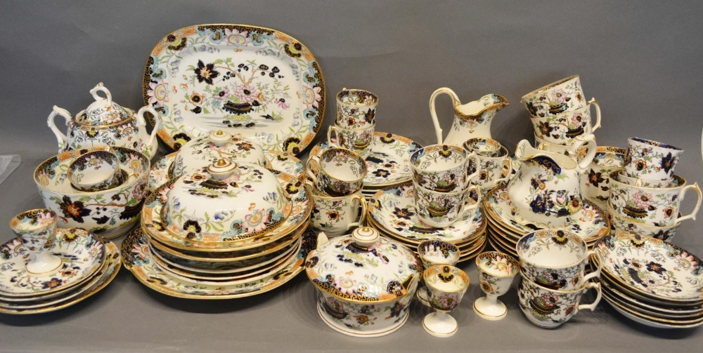Lot 22 - A Large Collection of Early English Tea and Dinner Ware decorated in the Imari palette