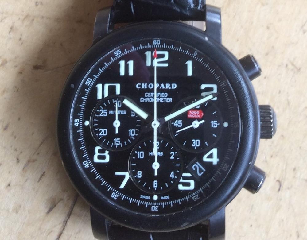 Lot 366 - A Chopard Mille Miglia Speed Black Dubai