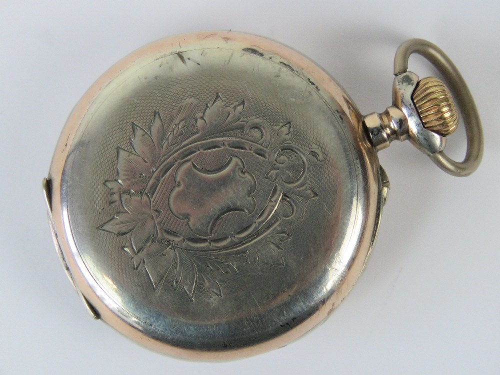 Lot 353 - A silver Tavennes Watch Co top winding p