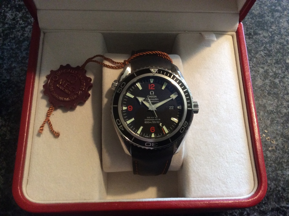 Lot 368 - An Omega Planet Ocean 2008 wristwatch, o