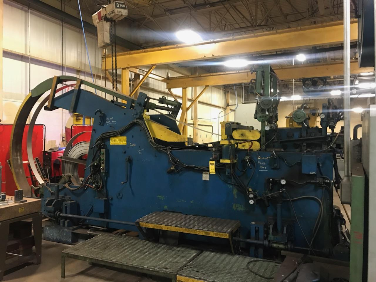 Lot 22 - FEED LINE FOR 200 MINSTER: ROWE CSF9-20-12J HYDRAULIC COIL CRADLE/STRAIGHTENER/FEED, 12,000 LB.