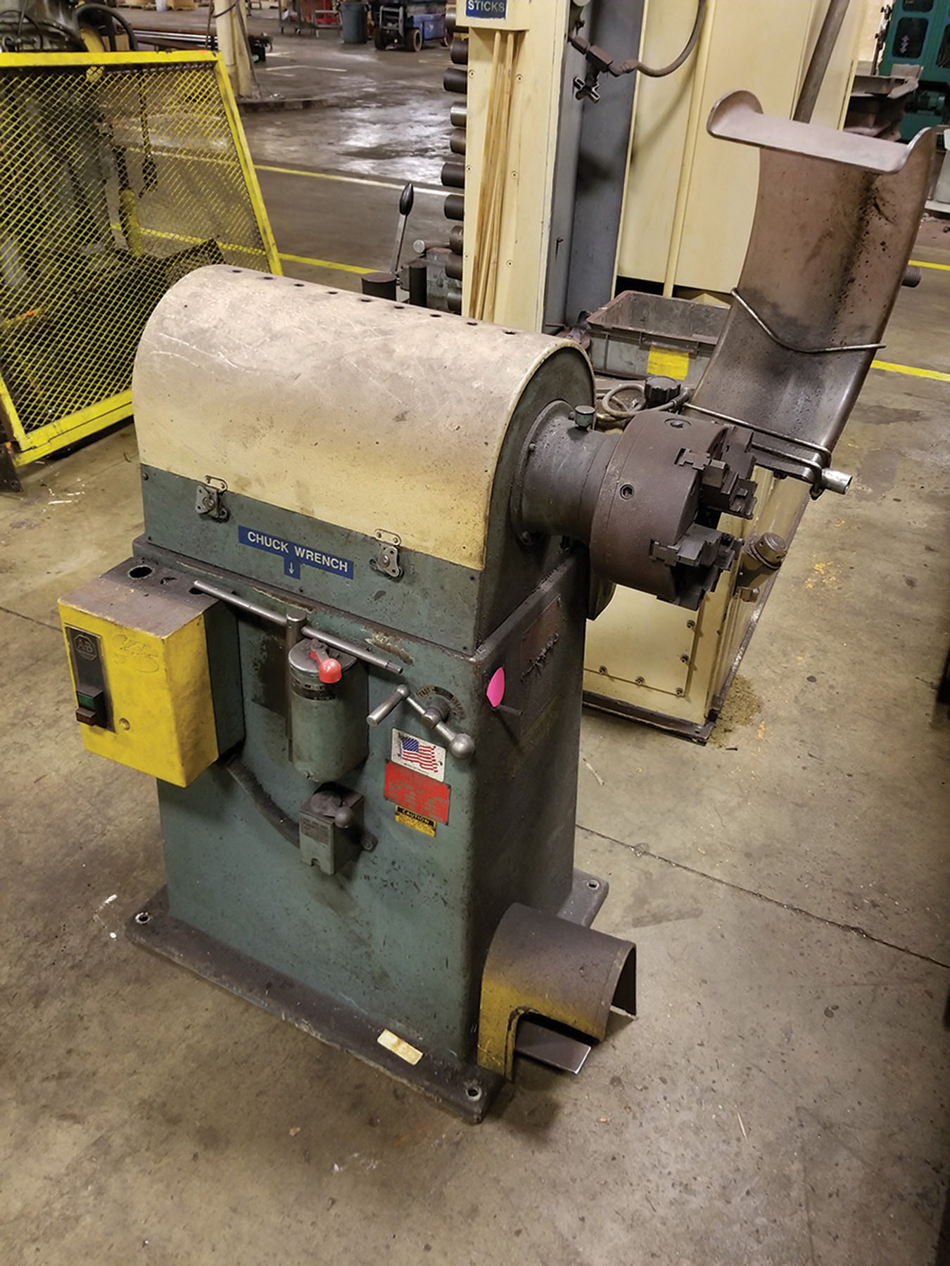 Lot 43 - SCHAUER SPEED LATHE, MODEL VA4BC, FRAME 184T, S/N F 41194M, 1.5/3-HP, 400-4,800-RPM, 3-OH, FOOT