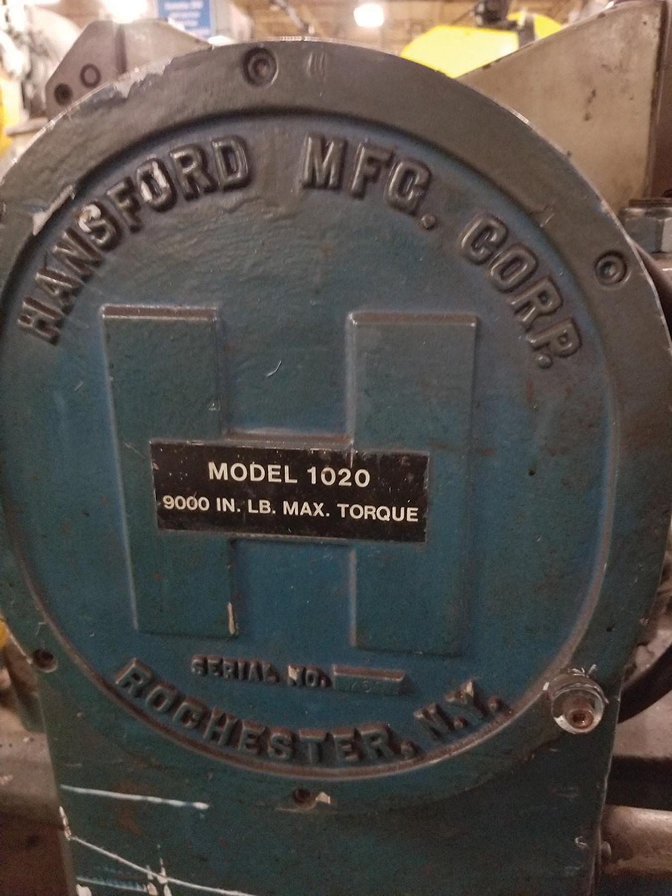 Lot 38A - HANSFORD DIE HANDLER, MODEL 1020, 9,000 IN. LB. MAX TORQUE, S/N 769 ***$75.00 RIGGING FEE***