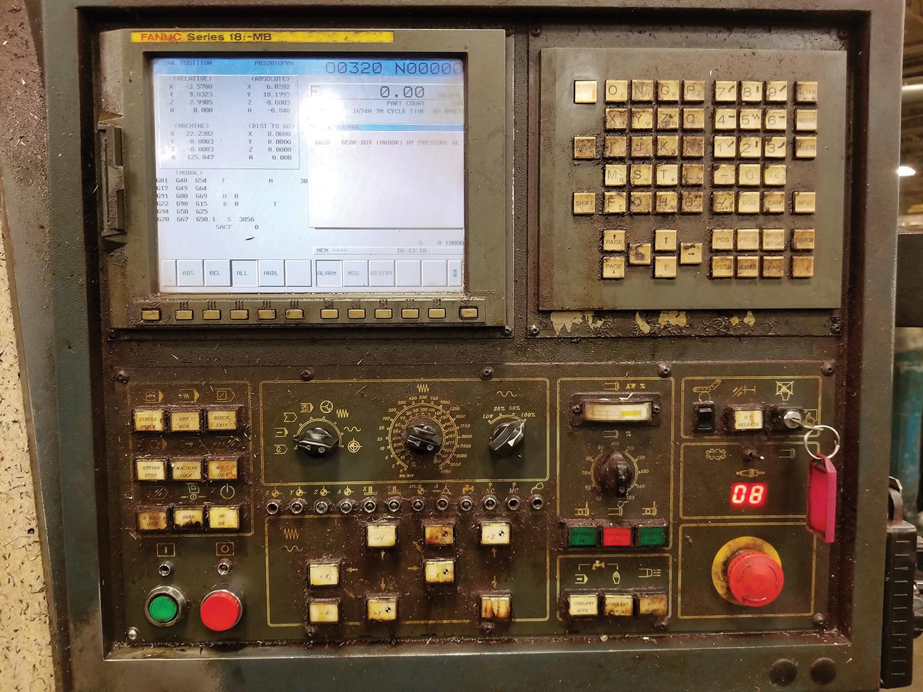 Lot 35 - 2003 JOHNFORD SUPER VERTICAL SV-32 VERTICAL MACHINING CENTER, 4-AXIS, S/N MB2302, 17.5'' X 39.25''