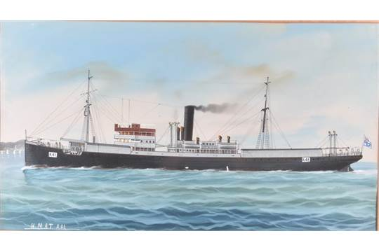 Two early 20th century maritime watercolours: HMAT A41 'Bakara' an